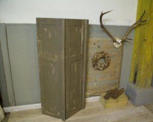 Frans brocant antiek luik taupekleurig, 141 cm