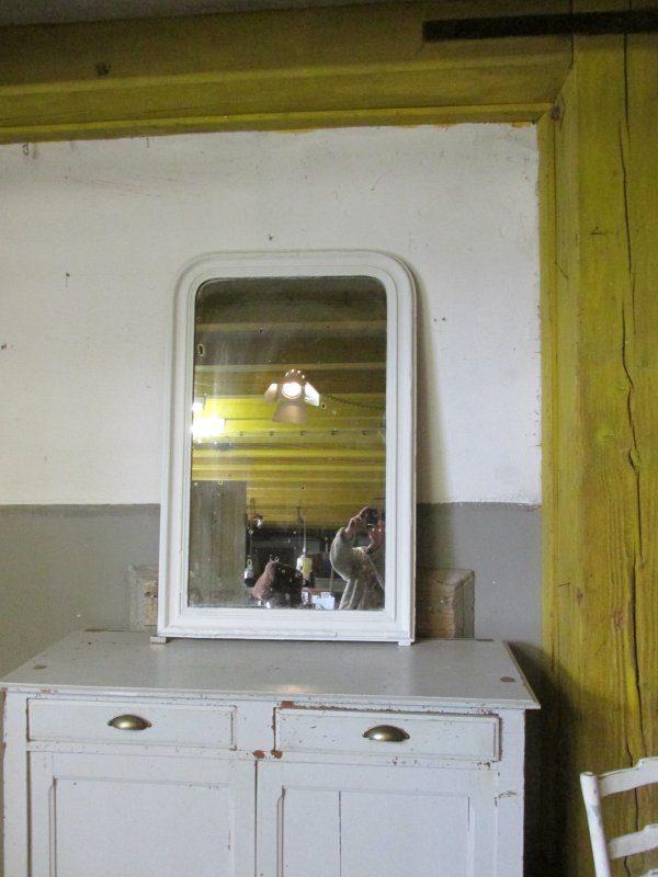 Grote Franse antieke spiegel 71,5x111 cm
