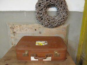 Oude koffer bruin 60 x 41.5 cm