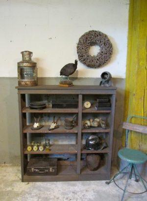 oud open eiken rek boekenkast