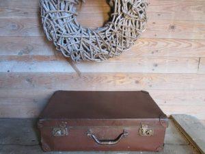 Oude vintage koffer, bruin, 51 x 31 cm