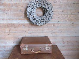 Vintage bruine koffer, 50 x 33 cm