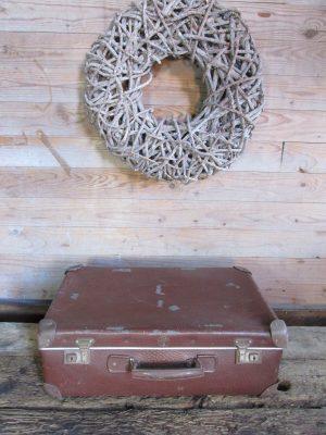 Oude koffer bruin 50.5 x 32.5
