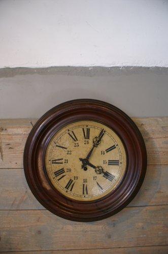Antieke Franse klok van metaal