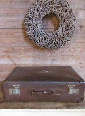 Oude bruine koffer, 61 x 38 cm