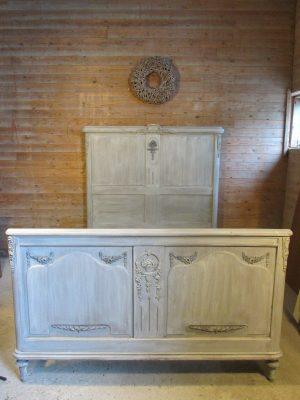 antiek mahonie bed