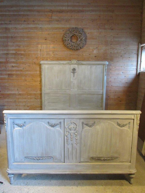 Oud Brocant Bed.Brocant Antiek Mahonie Bed Demontabel