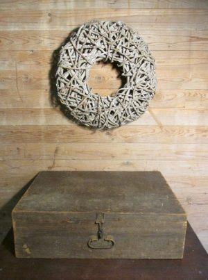 Oude houten koffer 64.5 x 43 cm