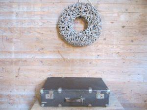Oude bruine koffer, 66 x 37 cm
