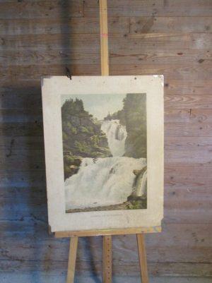 Oude schoolplaat Waterval van Reichenbach