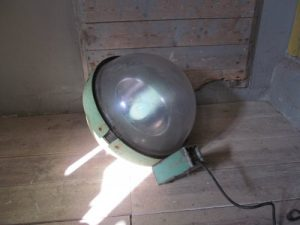 Oude lantaarnpaal lamp