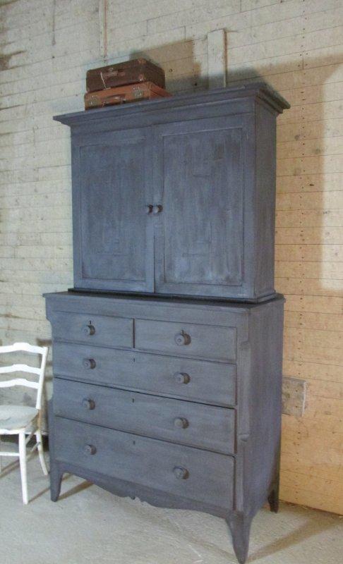 Antieke mahonie kast, 2 delig ook voor tv, Old Black