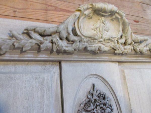 Brocant antiek mahonie bed, demontabel