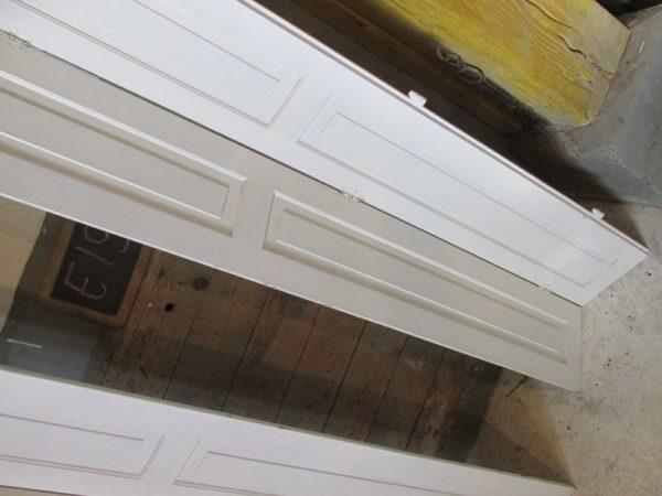 Brocante witte houten luiken, 168 h, 97 b E19