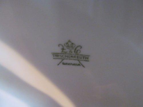 Kleine oude dekschaal van Bavaria,wit