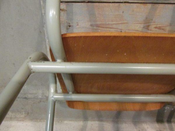 Vintage stoelen, metaal met hout 2x
