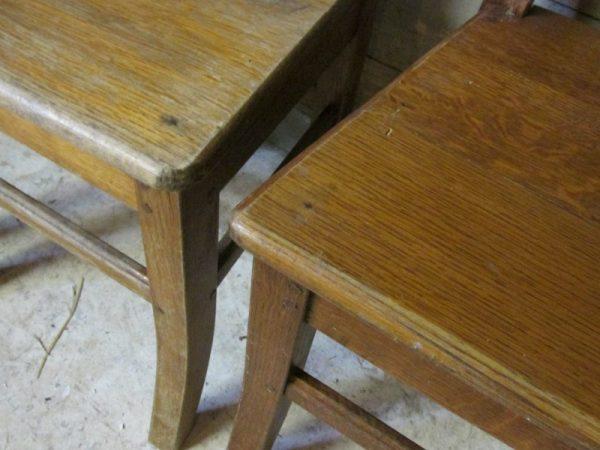 Oude Franse boerenstoel, lage zit (1x)