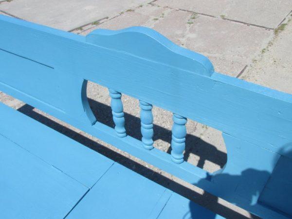 Oude houten klepbank, 254.5 cm lang