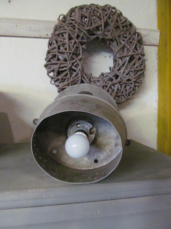 Industriele lamp van een hoedenmal