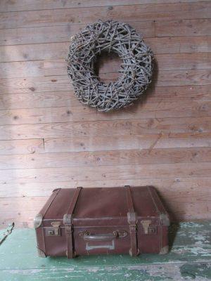 Oude bruine koffer, 60 x 40 cm