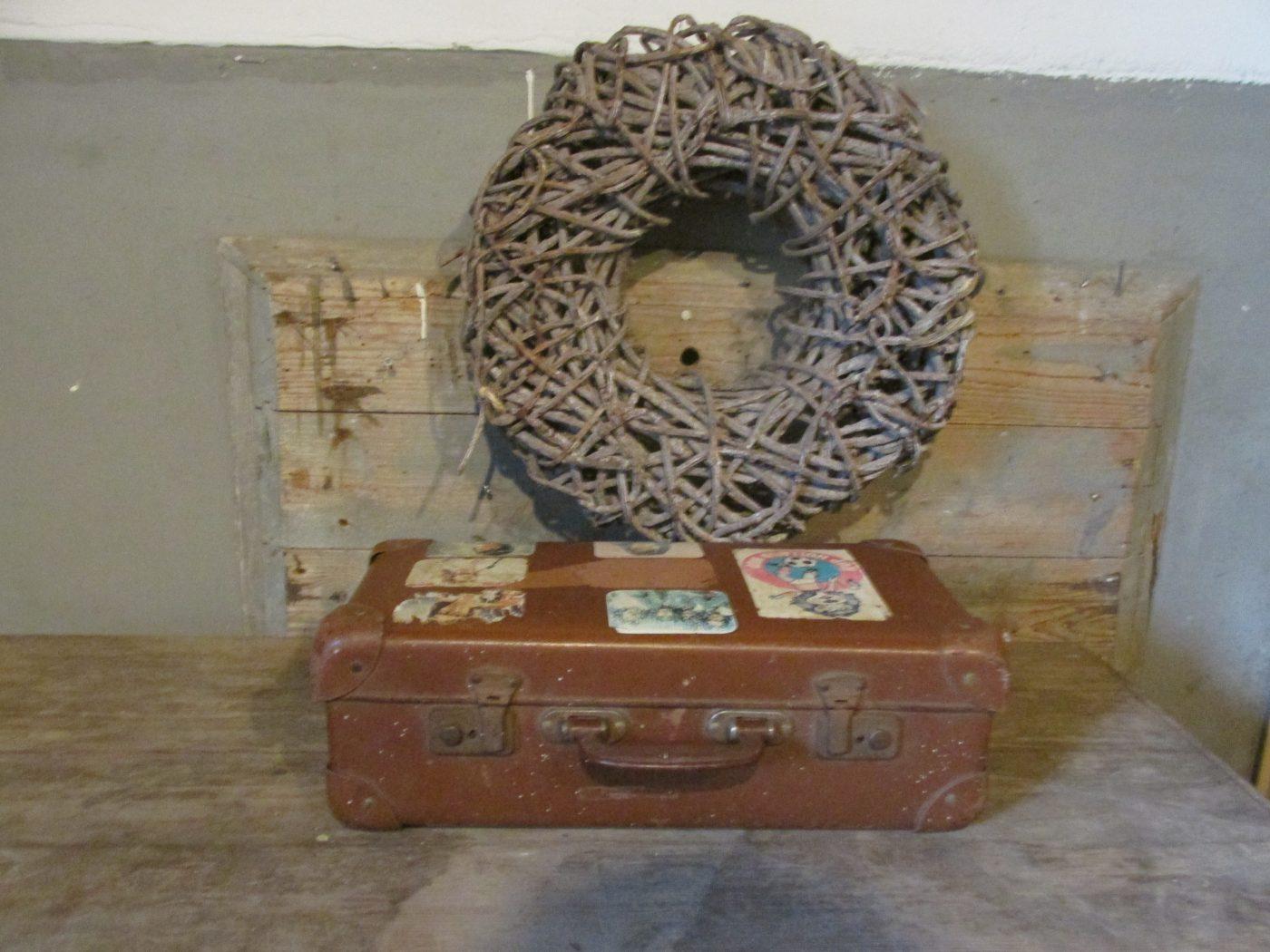 26f0923bbf6 Oude kleine koffer, bruin 35 x 22 cm - Were home
