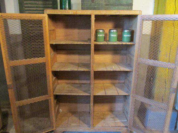 Oude beuken houten schoolkast