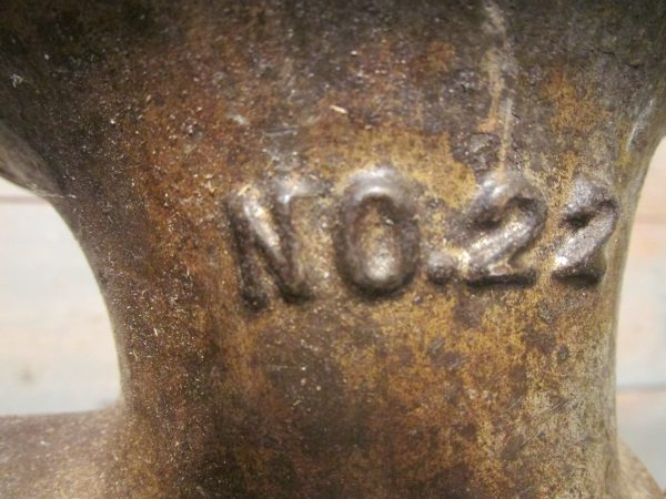 Oude Amerikaanse gehaktmolen Enterprised tinned nr 22