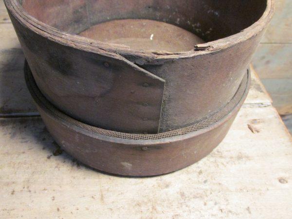 Oude houten zeef, klein model