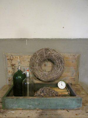 oude-groene-houten-lade-bak
