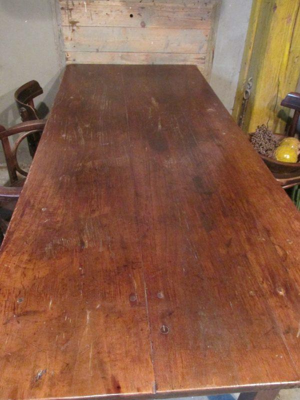 Oude Spaanse teak houten tafel, eet of werktafel