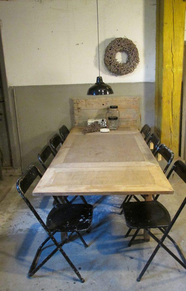 Oude eiken sobere tafel uitschuifbaar