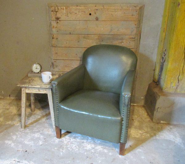 vintage-groene-fauteuil