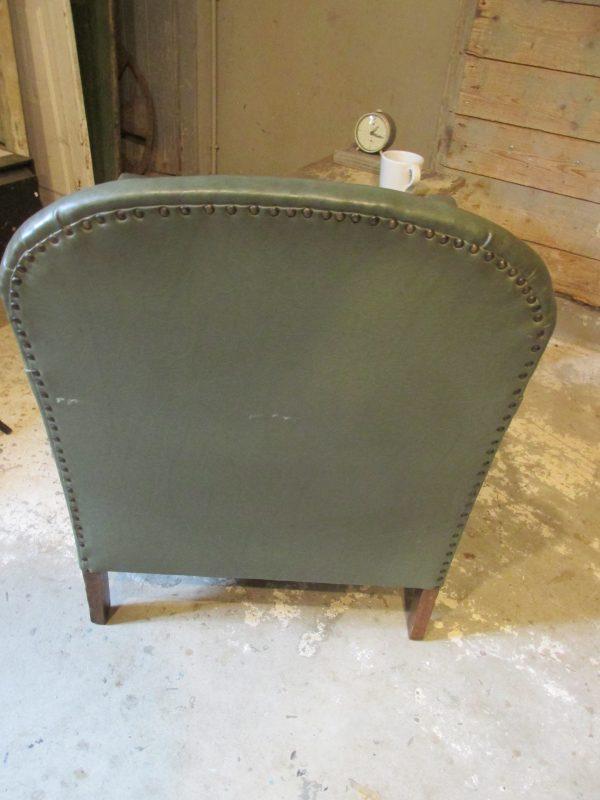 Vintage groene fauteuil, klein model
