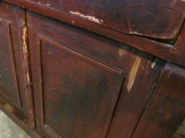 Antiek penant kastje uit 1800 in de oude verf