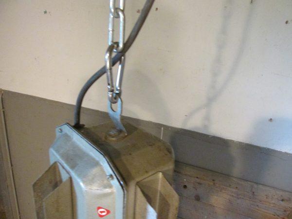 Industriële oude grote hang lamp