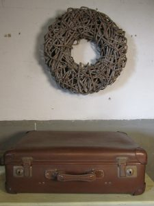 Oude koffer midden bruin 55.5 x 35 cm