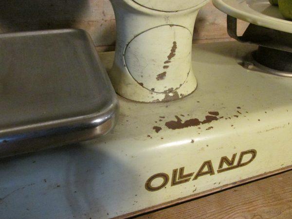 Oude grote Olland winkel weegschaal uit 1964