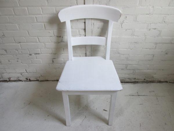 Spier witte stoel van teakhout, oud