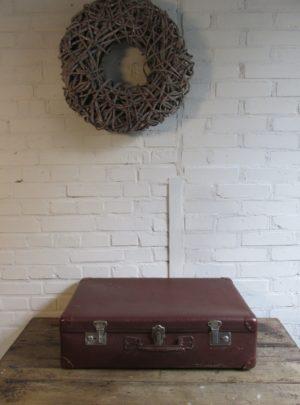 Oude bruine koffer 61 x 37.5 cm