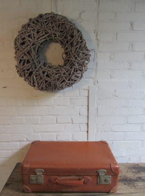 Oude koffer, cognac 55.5 x 33 cm