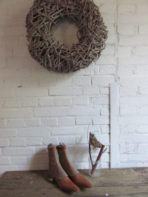 Oude houten heren schoenspanners met cover
