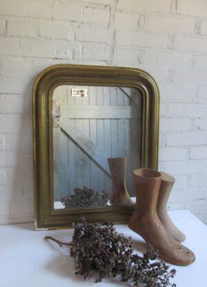 Antieke Franse spiegel, goud 49 x 61 cm