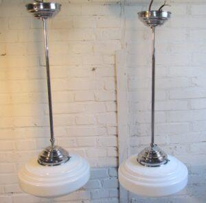 Vintage repro hanglampen Amsterdamse school
