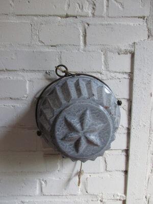 Emaille grijs gewolkte poffert zonder deksel