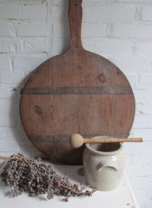 Oude houten roer stok