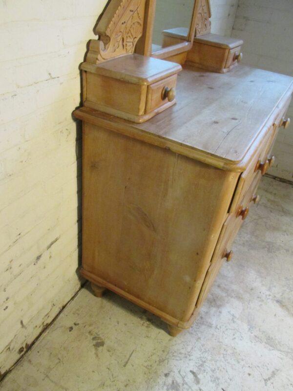 Antieke Engelse grenen kaptafel, 2 delig
