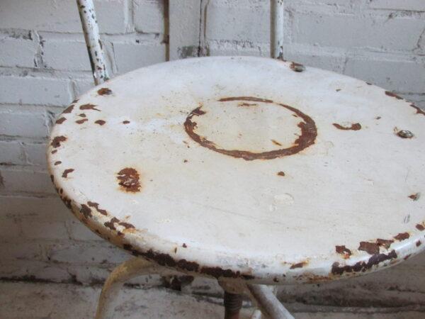 Industriële metalen stoel, in hoogte verstelbaar en draaibaar