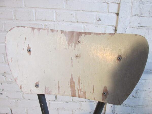 Vintage houten keuken stoel in een 2 kleur