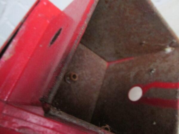 Oude rode seinlamp
