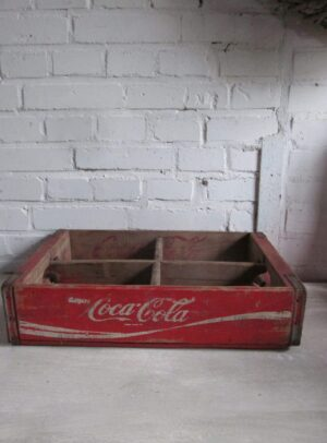 Coca-Cola kratje, oud en van hout